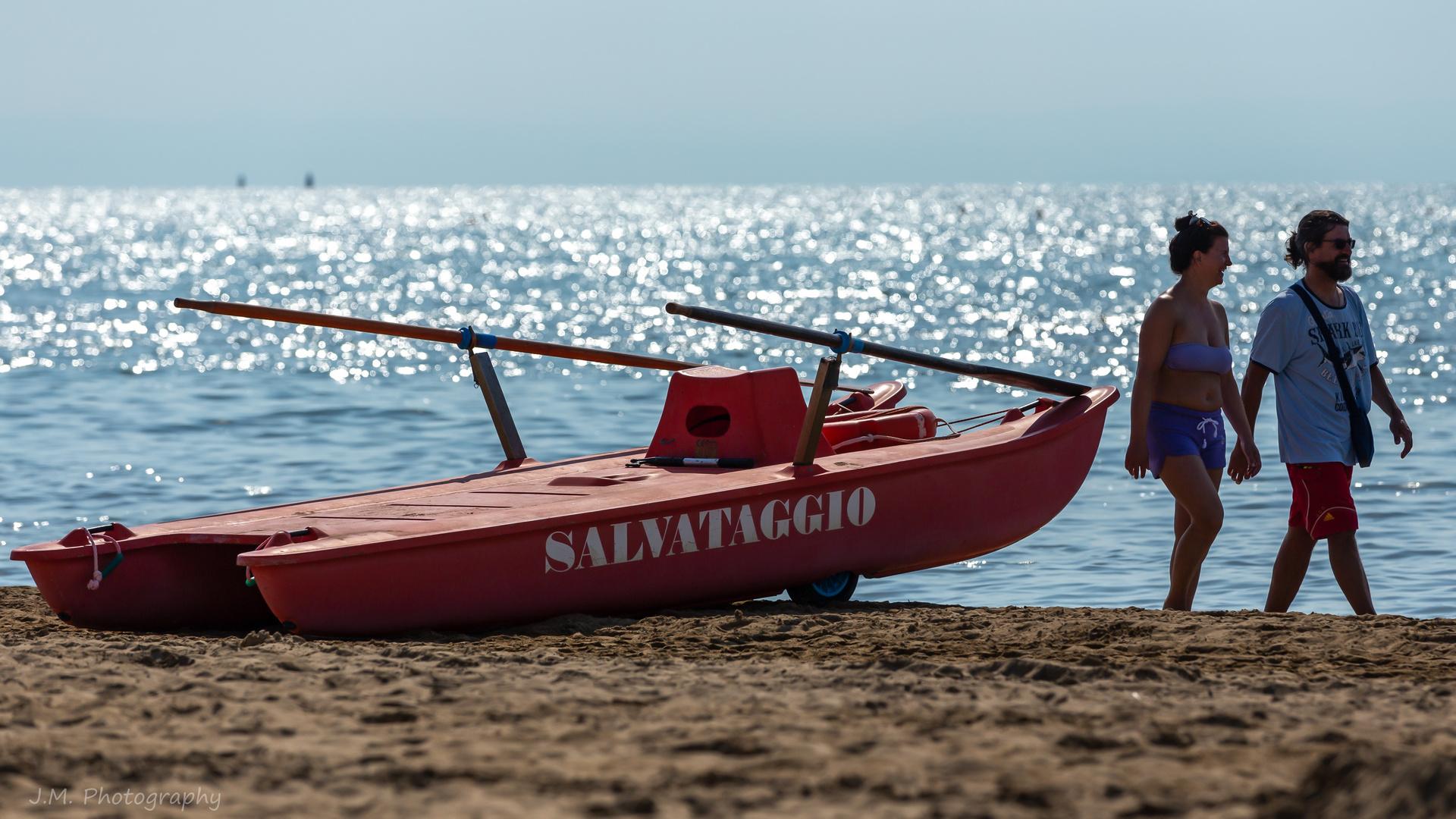 Sulla spiaggia…