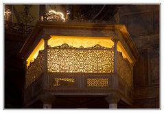 Sultansloge in der Hagia Sophia