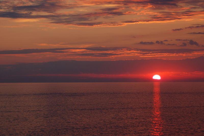 Sun Downfall near Rovjini, Croatia