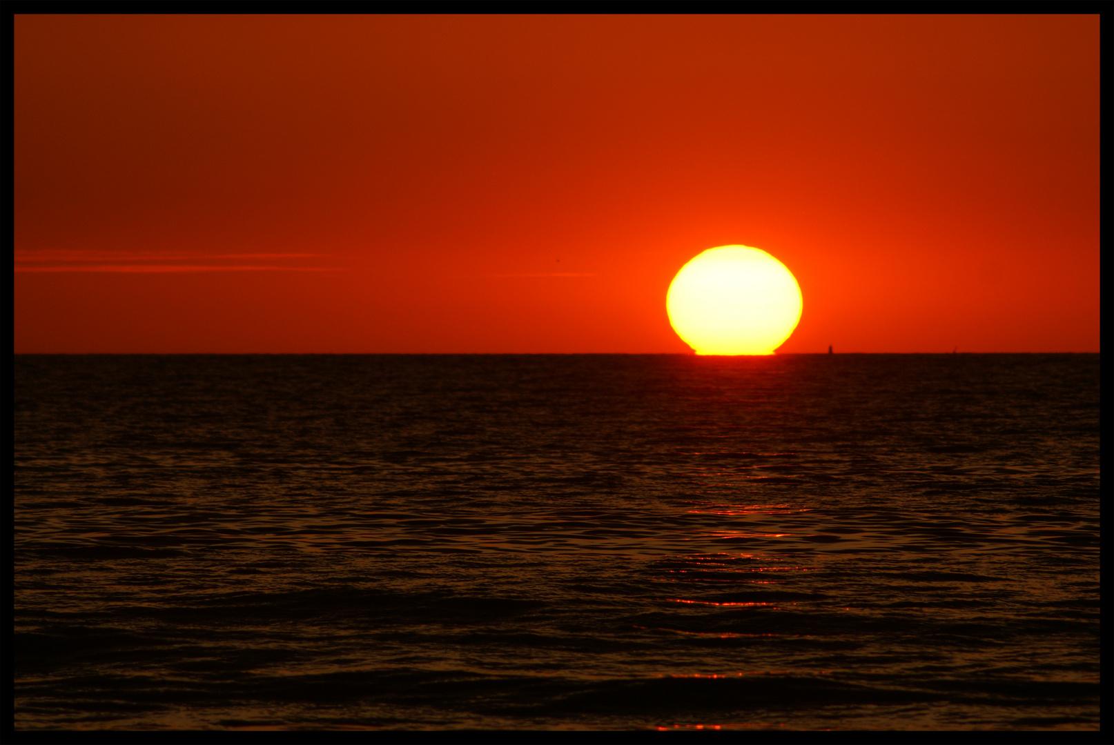 Sun meets earth