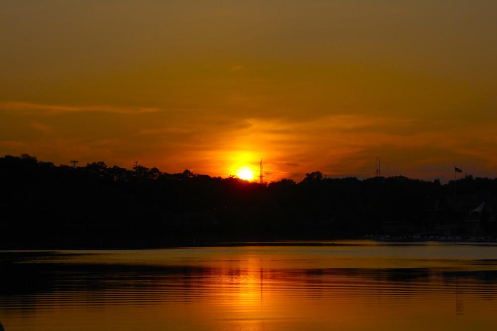 Sun set on the Schuylkill