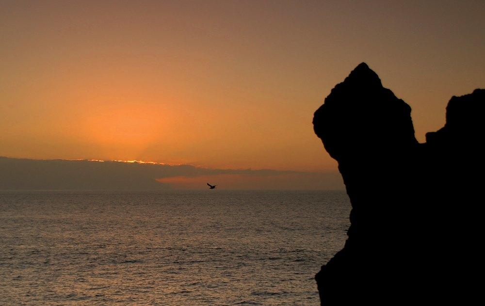 Sun setting over La Gomera - Sonnenuntergang hinter La Gomera