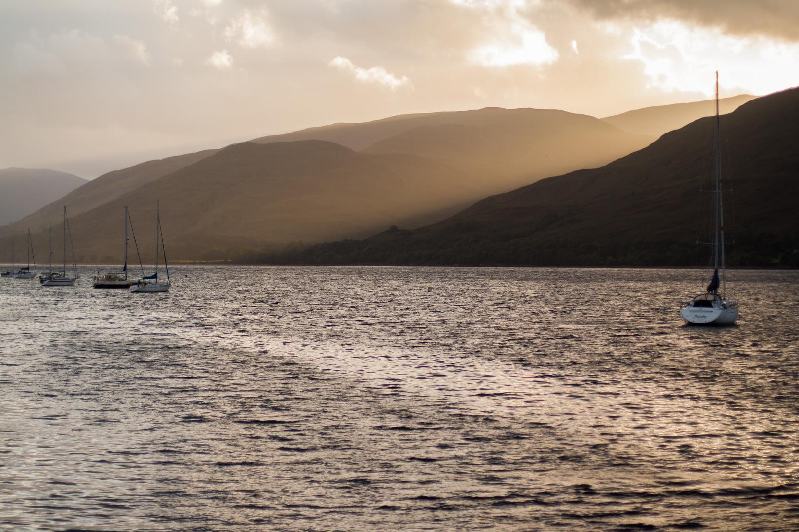 Sunbeam at Loch Linnhe