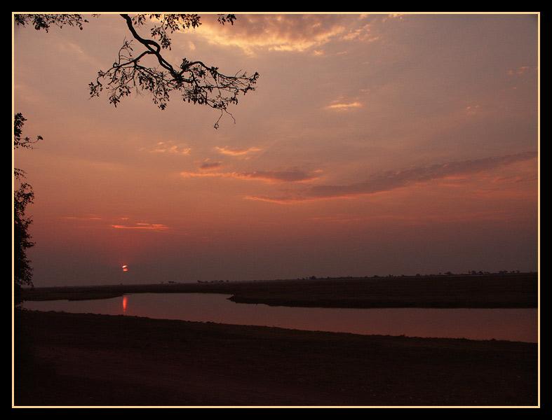 Sundown am Chobe River