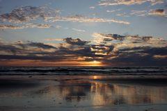 Sundown at Løkken Beach