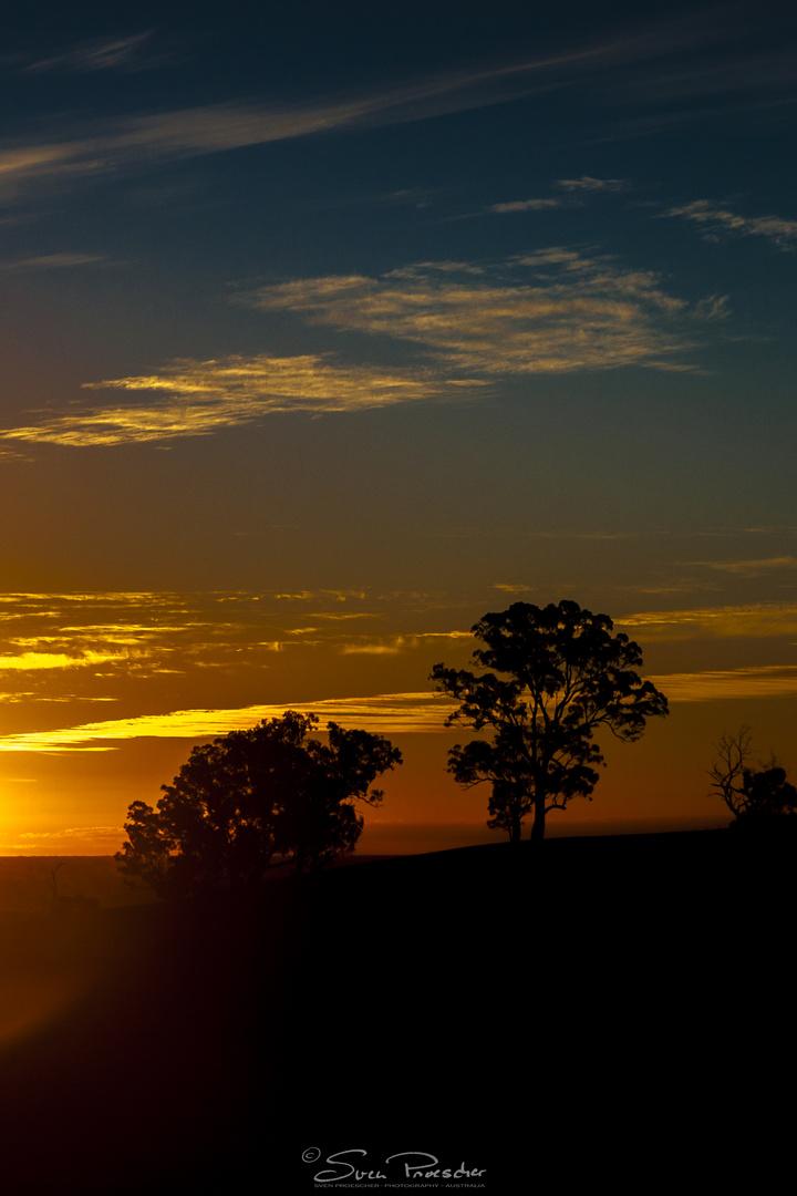 Sundown at Mount Major