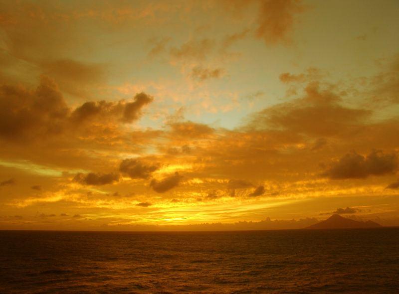 Sundown at Saba