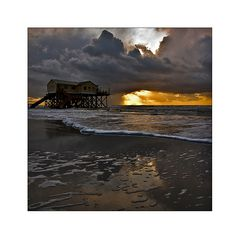 sundown at st. peter - ording