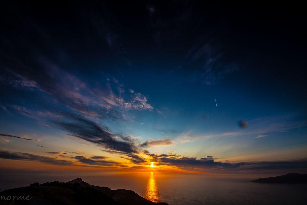 Sundown at the Island of Corsica