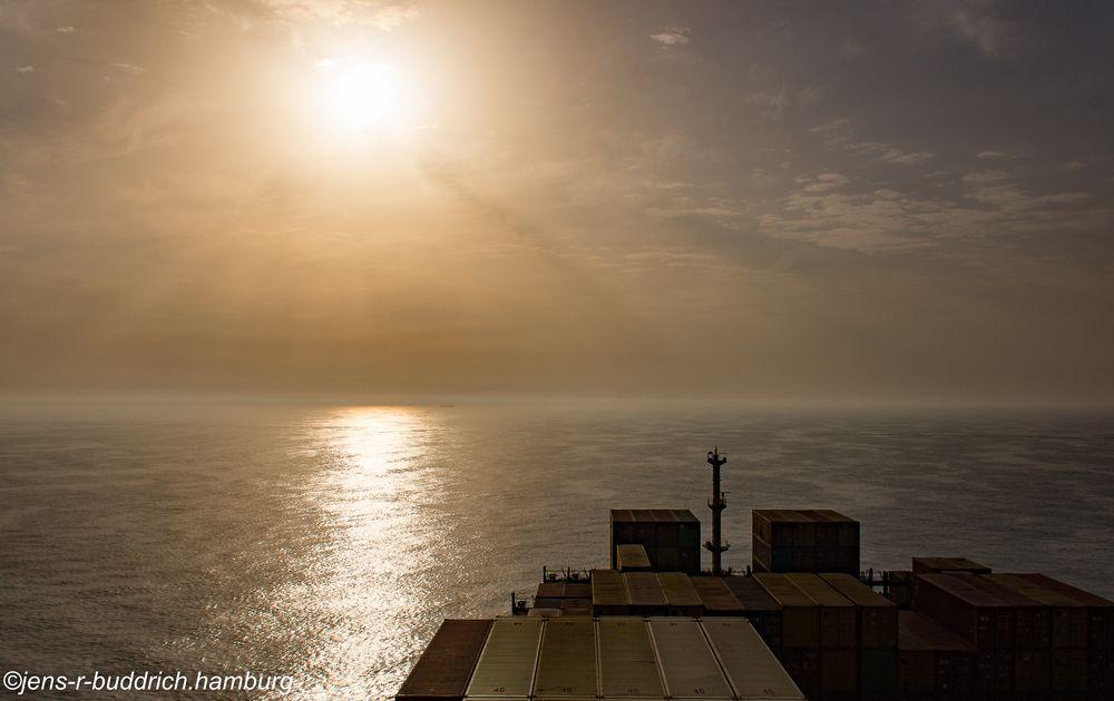 Sundown auf der Nordsee