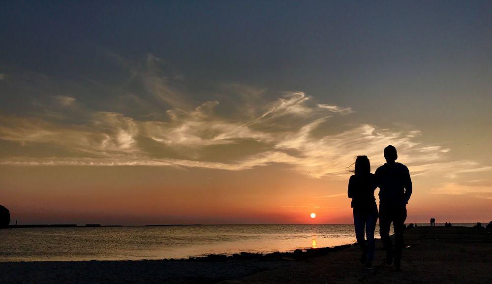 sundown helgoland von Ralf Steinbock