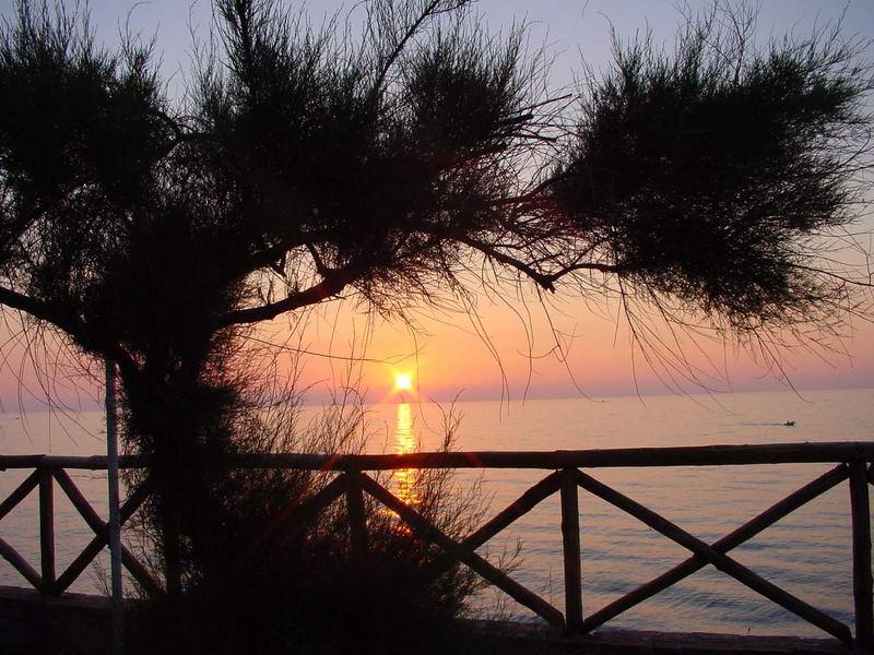 Sundown in Italy.