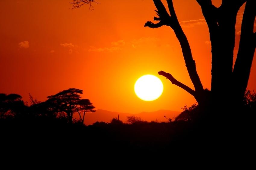 Sundown in Kenia