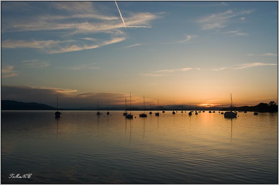 sundown @ lake constance