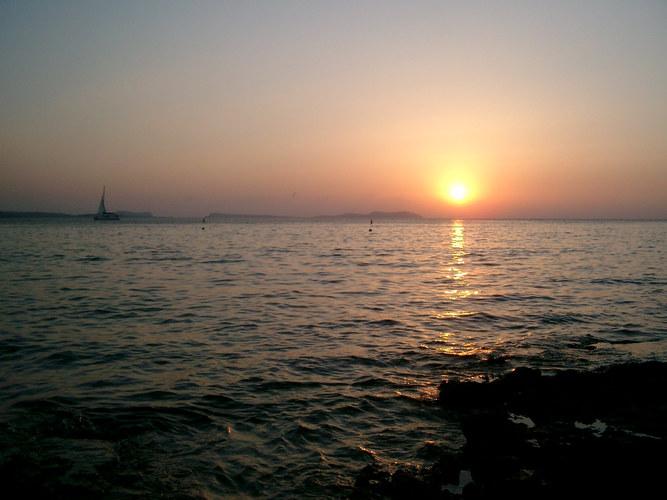 sundown on ibiza