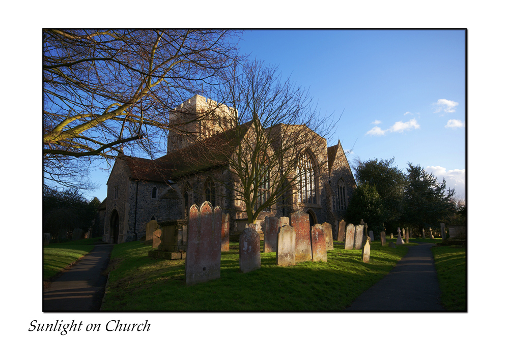 Sunlight on Church
