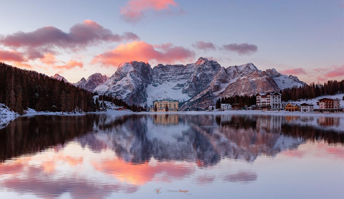 sunrise at Lago Misurina !