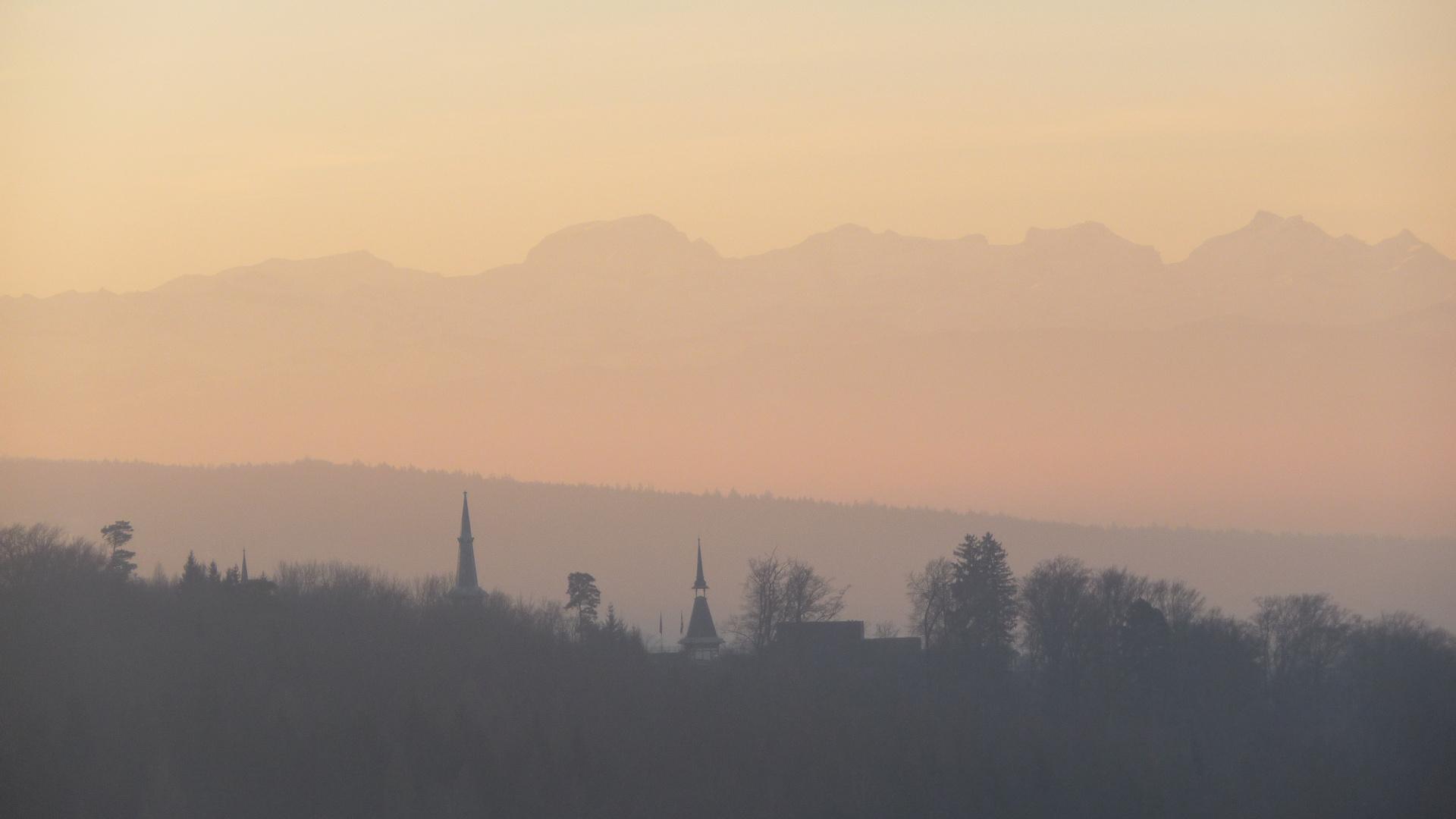 Sunrise at Lake Zürich