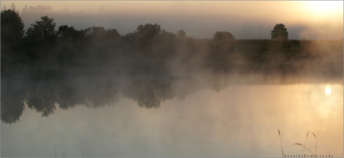 Sunrise at Mologa river