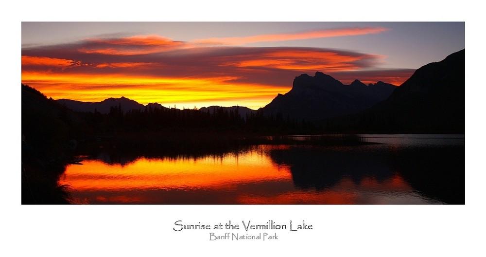 Sunrise at the Vermilion Lakes