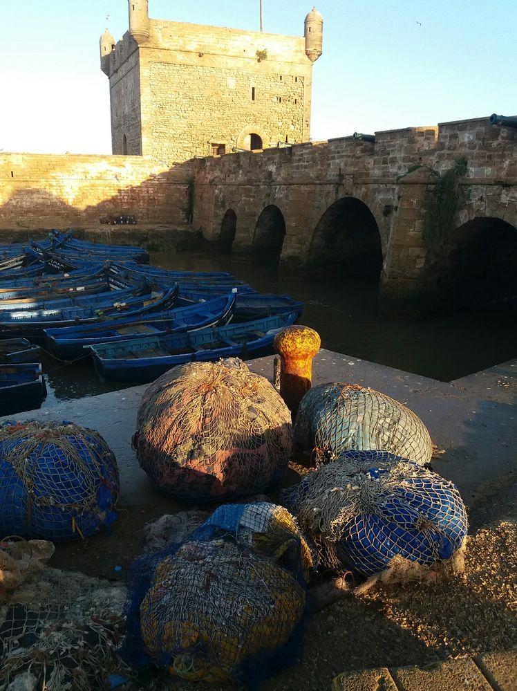 Sunrise Hafen Essaouira 7-3-17  Ma-036 J5-col