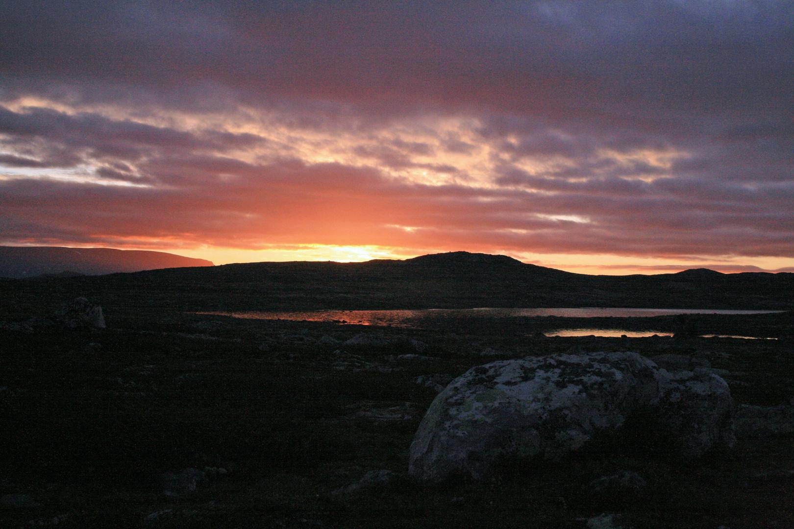 Sunrise Hardangervidda