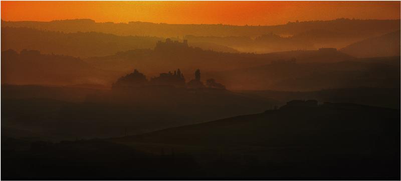 Sunrise in der Toskana