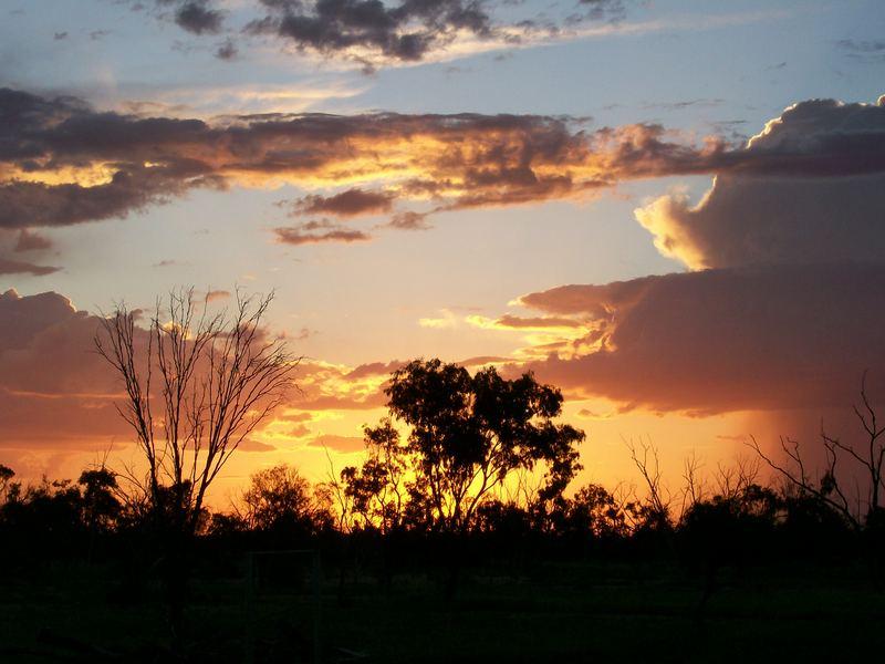 sunrise in outback