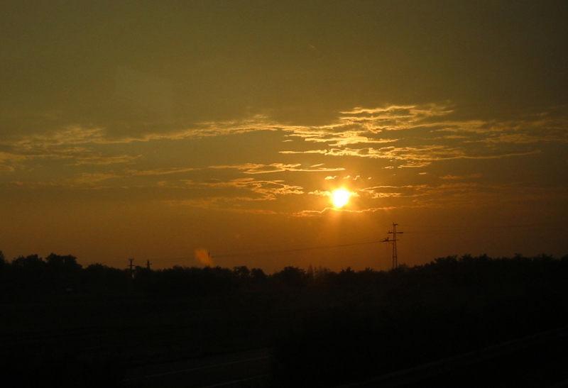 Sunrise nach Budapest...