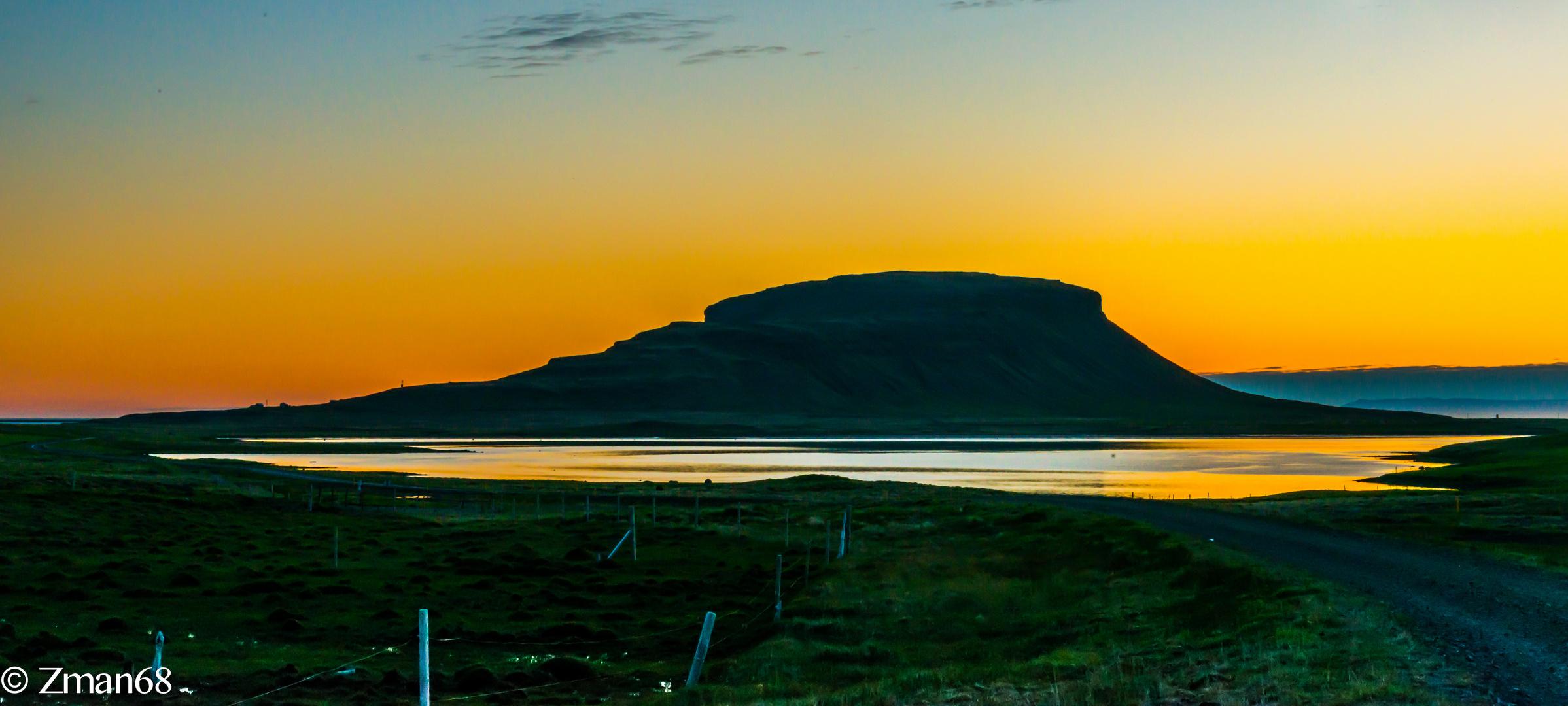Sunrise near Kirkjufell