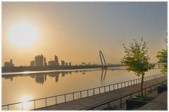sunrise on Bahe river banks