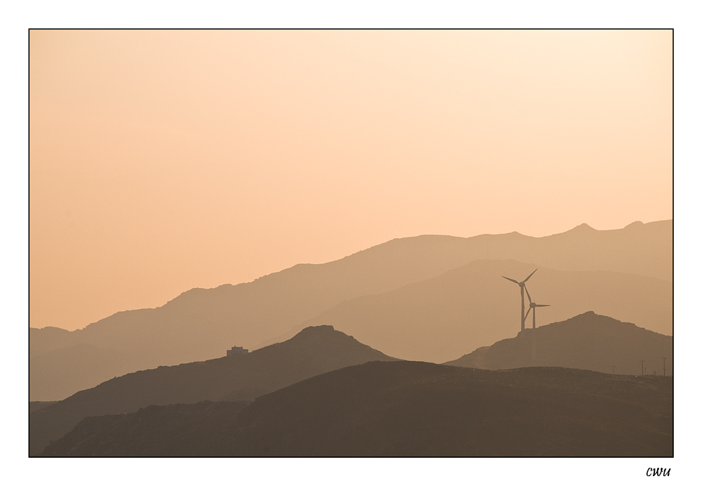 Sunrise on Naxos island, greece