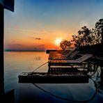 Sunrise on Sheraton pool in Nha Trang