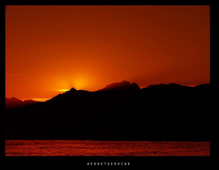 sunrise on sleeping man mountain in Ordu