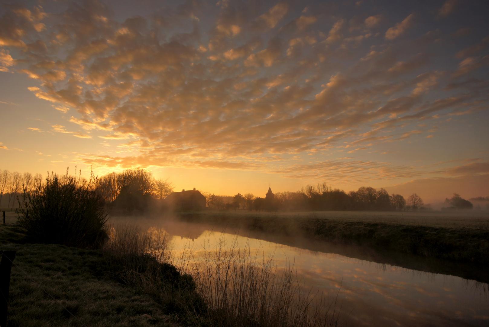 Sunrise over a brook