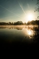 sunrise over a ripple