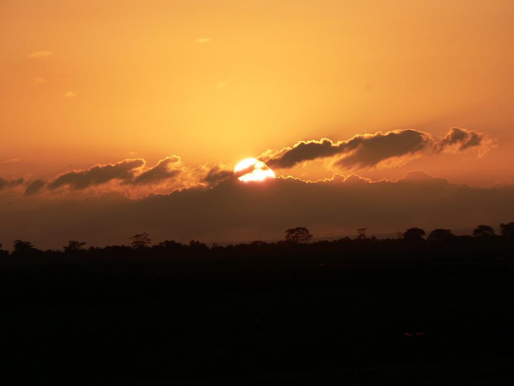 sunrise over Amboseli
