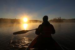 Sunrise Paddle in Algonquin