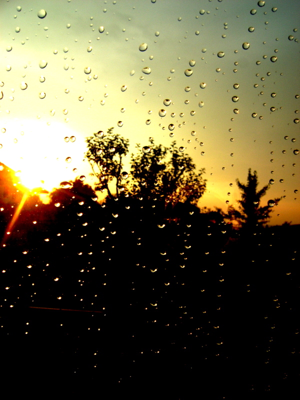 Sunset after a rainy day
