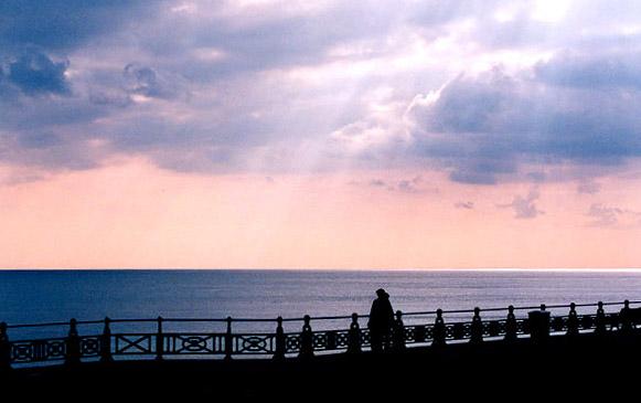 Sunset alone