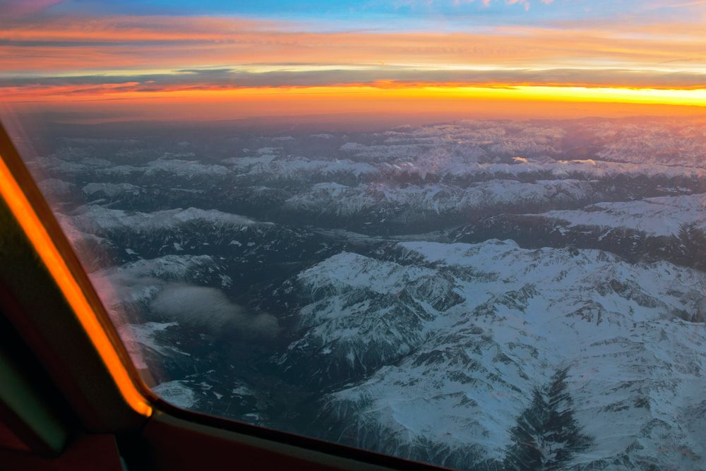 Sunset Alpen- Inntal