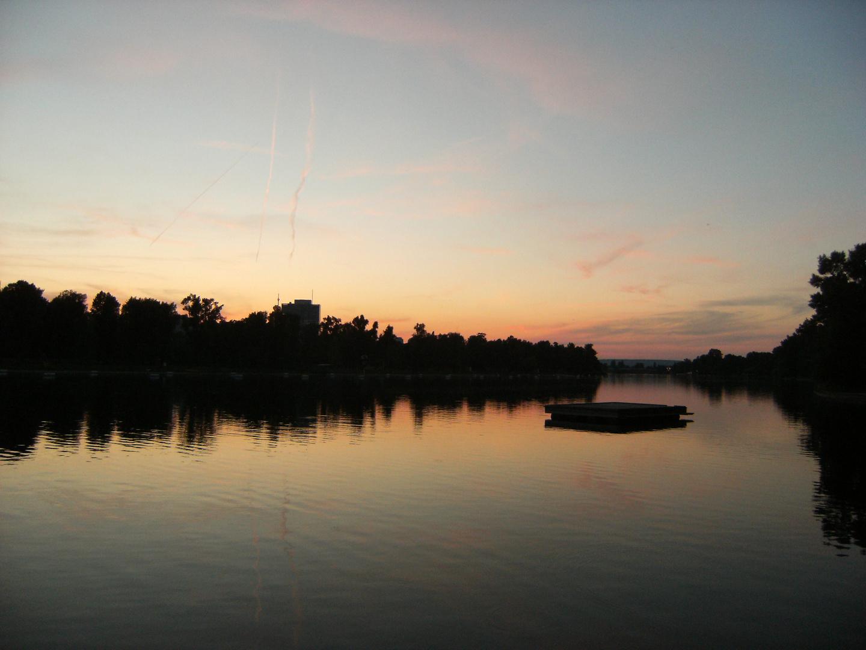 Sunset, alte Donau