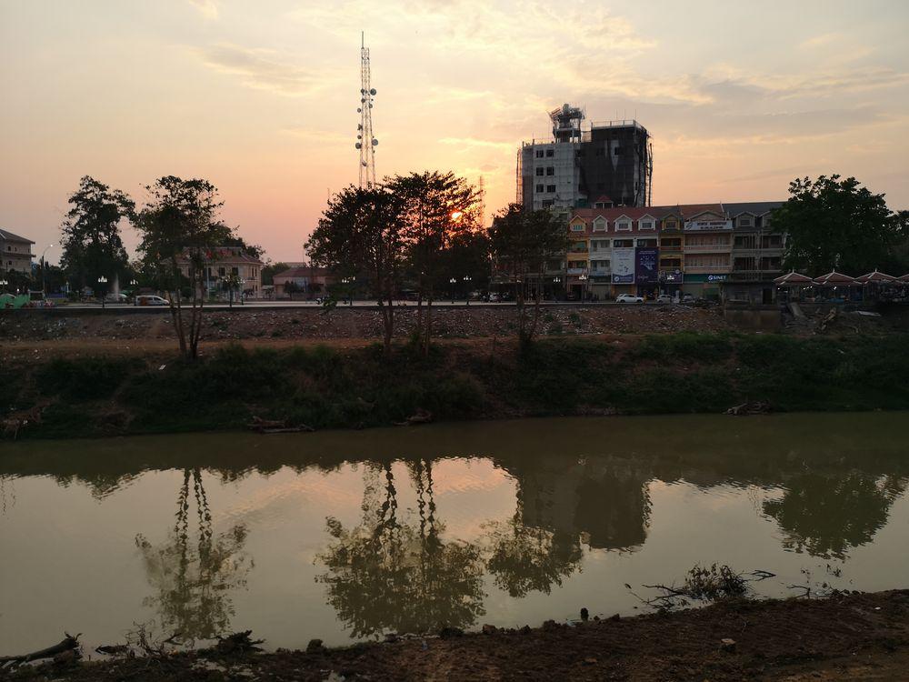 sunset am Fluss Camb P20-20-col