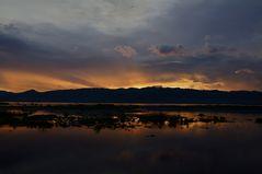 sunset am inle see, burma 2011