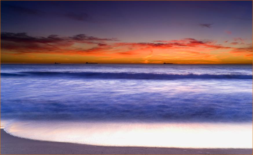 Sunset am Santa Monica Beach...