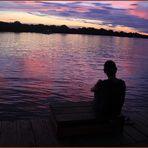SUNSET am ZAMBESI ... in Zambia