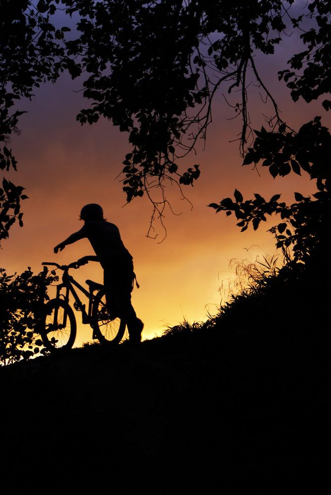 sunset an den trails