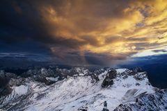 Sunset an der Zugspitze