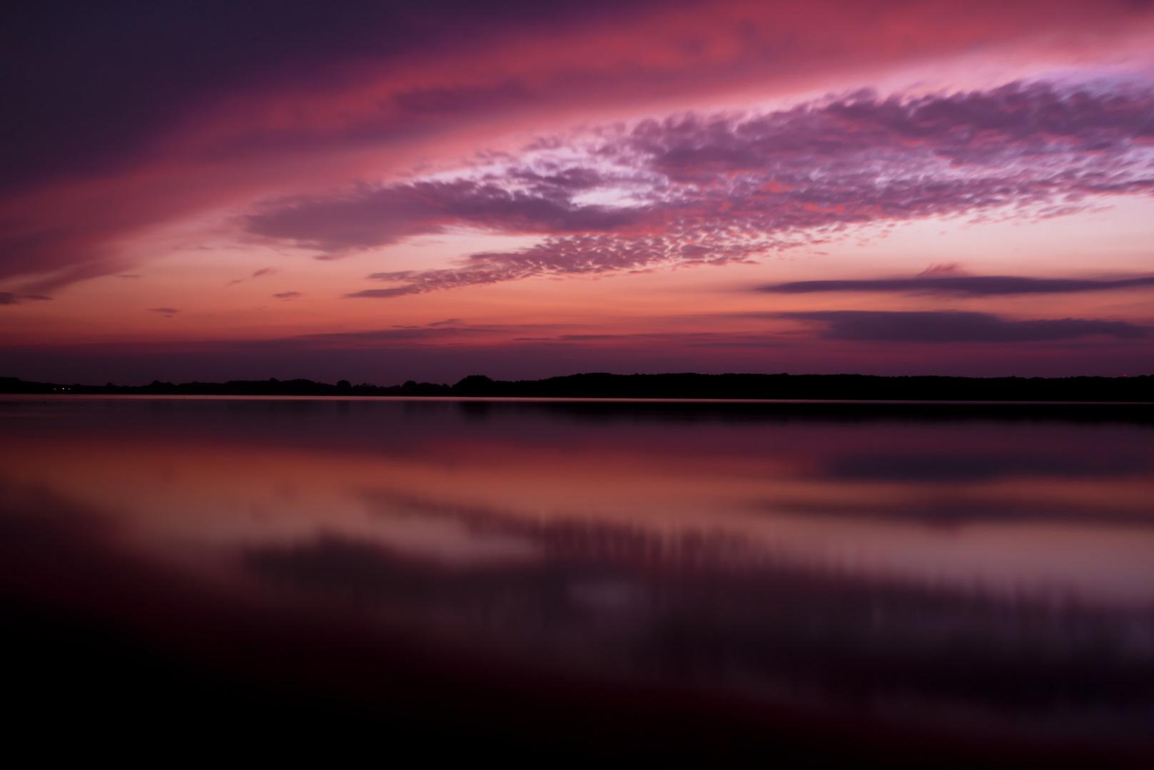 Sunset an einem Brandenburger See