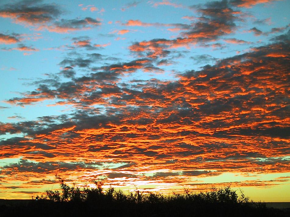 Sunset- argentinische Atlantikküste bei Puerto Madryn